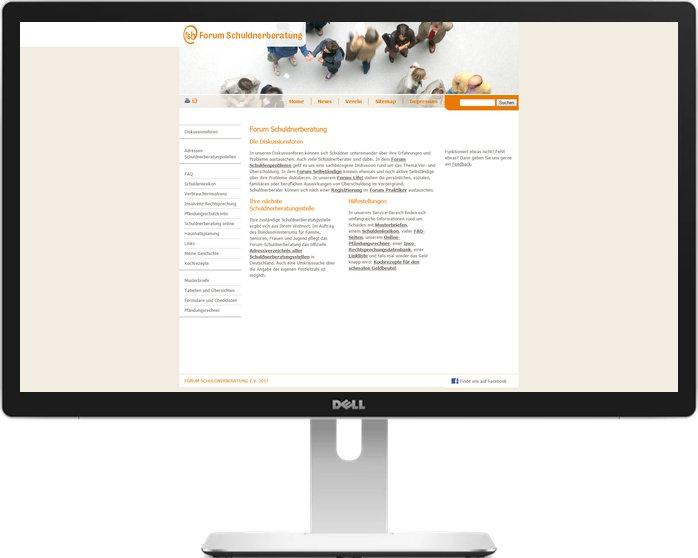 Screenshot Schuldnerberatung